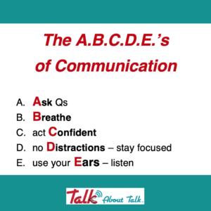 Talk About … Effective Communication Skills! (& a few Qs….)